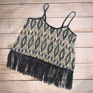 QED London for LF Crop Top Fringed